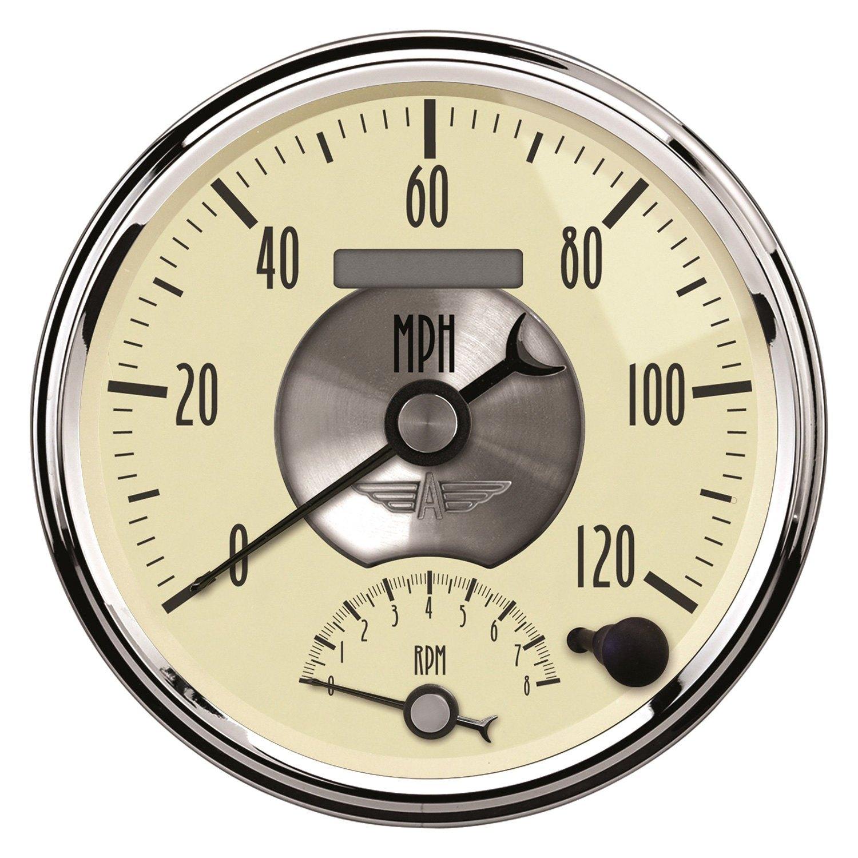 Antique Meter And Gauges : Auto meter prestige antique ivory™ speedometer