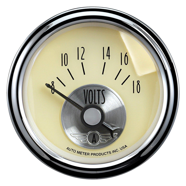 Voltmeters In Dash : Auto meter prestige antique ivory™ voltmeter in