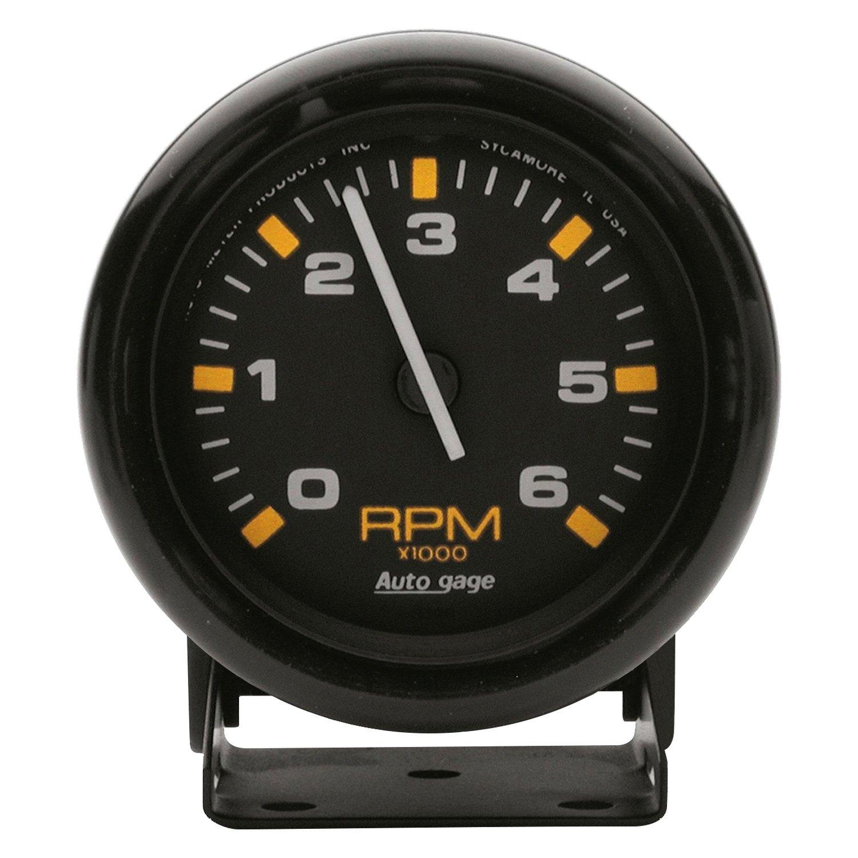 "Auto Body Shops >> Auto Meter® 2306 - Auto Gage Series 2-3/4"" Pedestal Tachometer Gauge, 0-6,000 RPM"