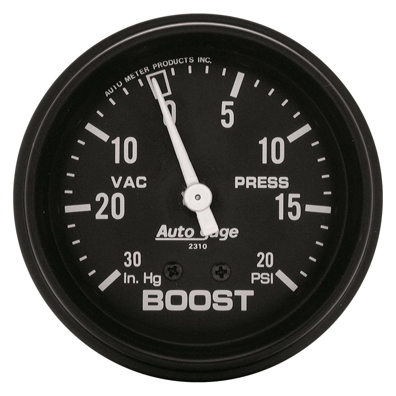 Auto Gage Gauges : Auto meter gage™ boost vacuum in dash gauge