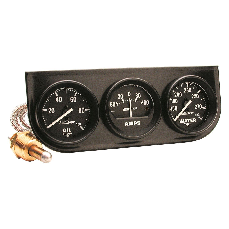 Auto Gage Gauges : Auto meter gage series quot gauge console kit
