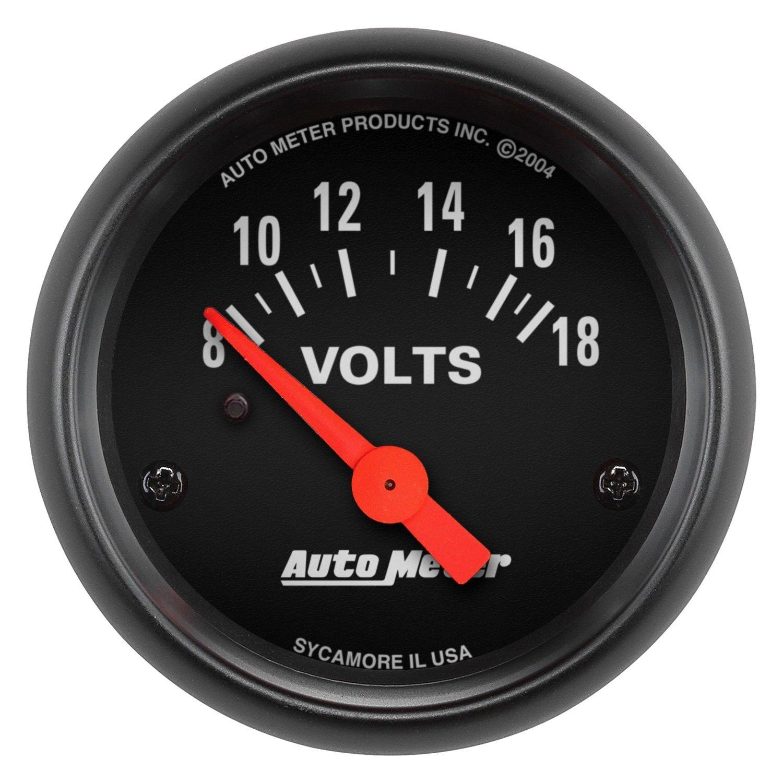 Voltmeters In Dash : Auto meter z series™ voltmeter in dash gauge