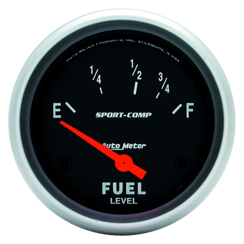 auto meter 3516 sport comp series 2 5 8 fuel level gauge. Black Bedroom Furniture Sets. Home Design Ideas