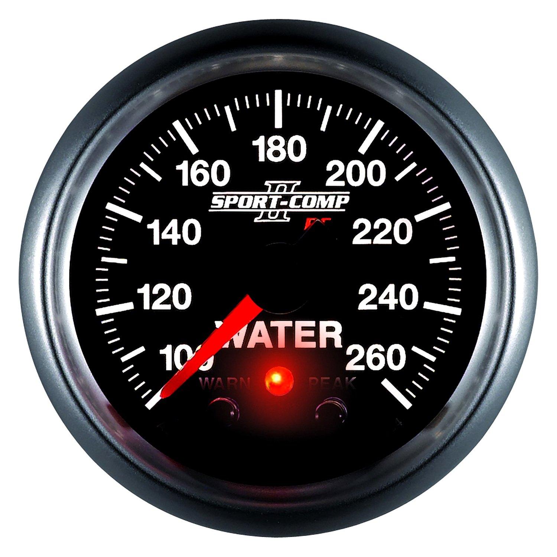 """Equus Coolant Temperature Gauge 6232; 6000 Series Water Temp 130-280°F 2-1//16/"""""""