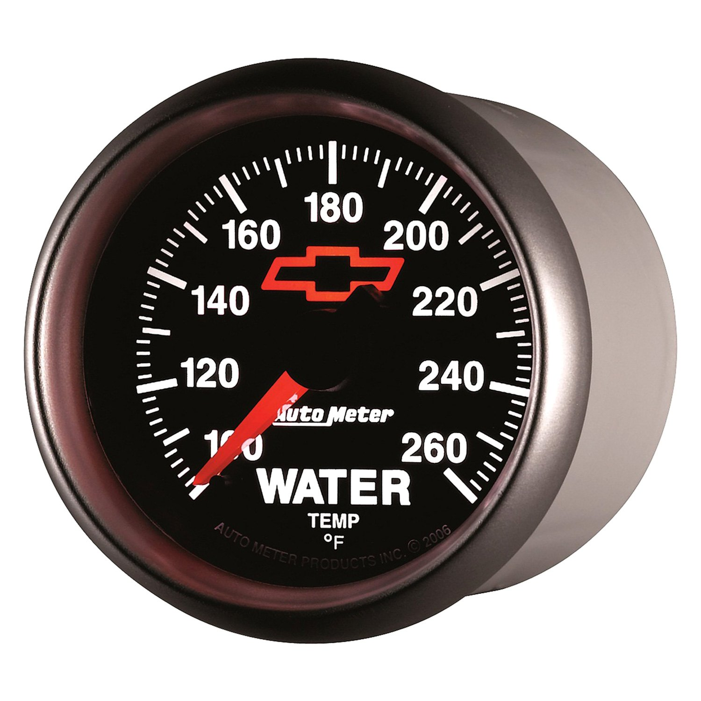 auto meter 3655 00406 gm black water temperature in dash gauge. Black Bedroom Furniture Sets. Home Design Ideas