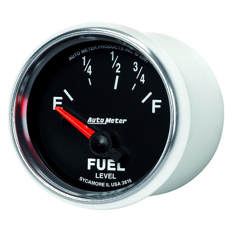 auto meter 3815 gs fuel level in dash gauge. Black Bedroom Furniture Sets. Home Design Ideas
