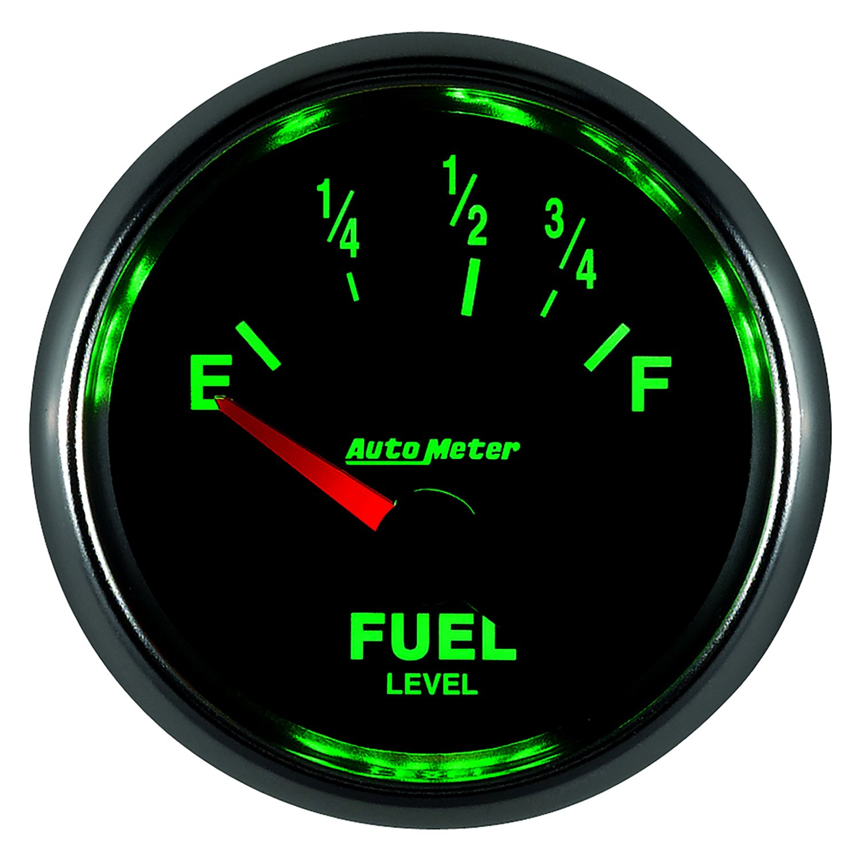 Auto Gage Gauges : Auto meter gs™ fuel level in dash gauge