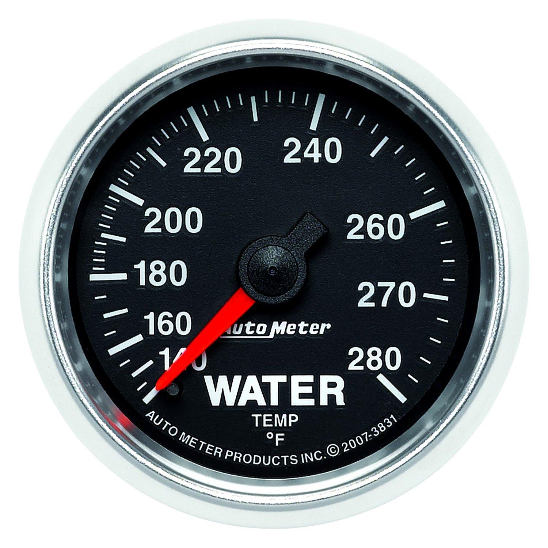 auto meter 3831 gs water temperature in dash gauge. Black Bedroom Furniture Sets. Home Design Ideas