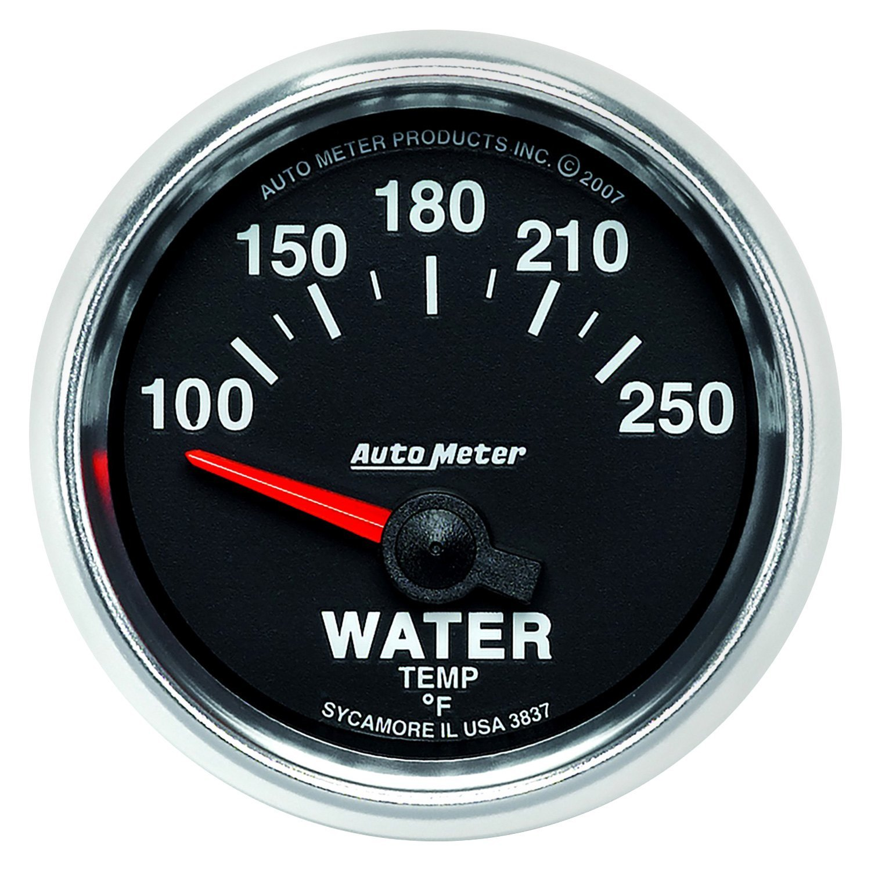 auto meter 3837 gs water temperature in dash gauge. Black Bedroom Furniture Sets. Home Design Ideas