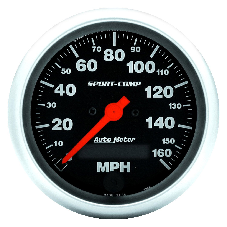 Autometer Carbon Fiber 3 3//8 Programmable Speedometer Universal