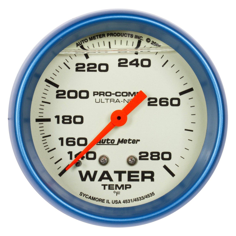 auto meter 4231 ultra nite water temperature in dash gauge. Black Bedroom Furniture Sets. Home Design Ideas