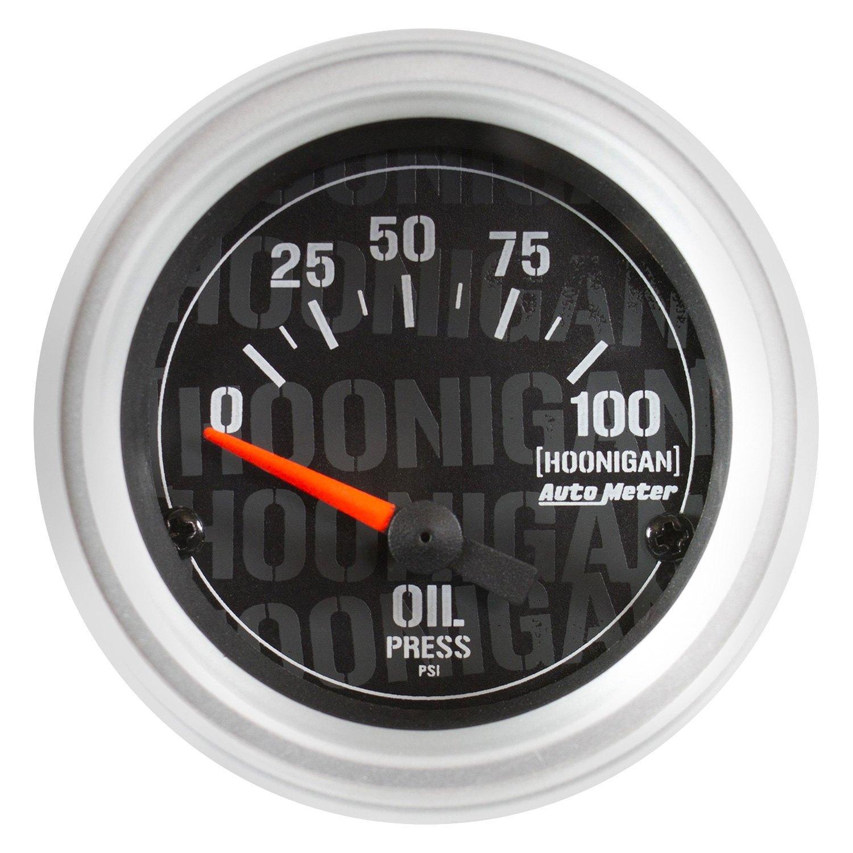 "Autometer Marine Carbon Fiber 2-1//16/"" Oil Pressure 0-100 PSI Air-Core Gauge"