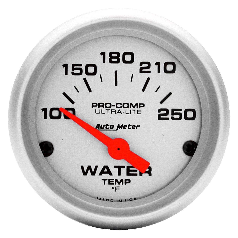 auto meter® 4337 - ultra-lite™ water temperature in-dash gauge temp gauge auto light wiring stewart warner temp gauge wiring diagram