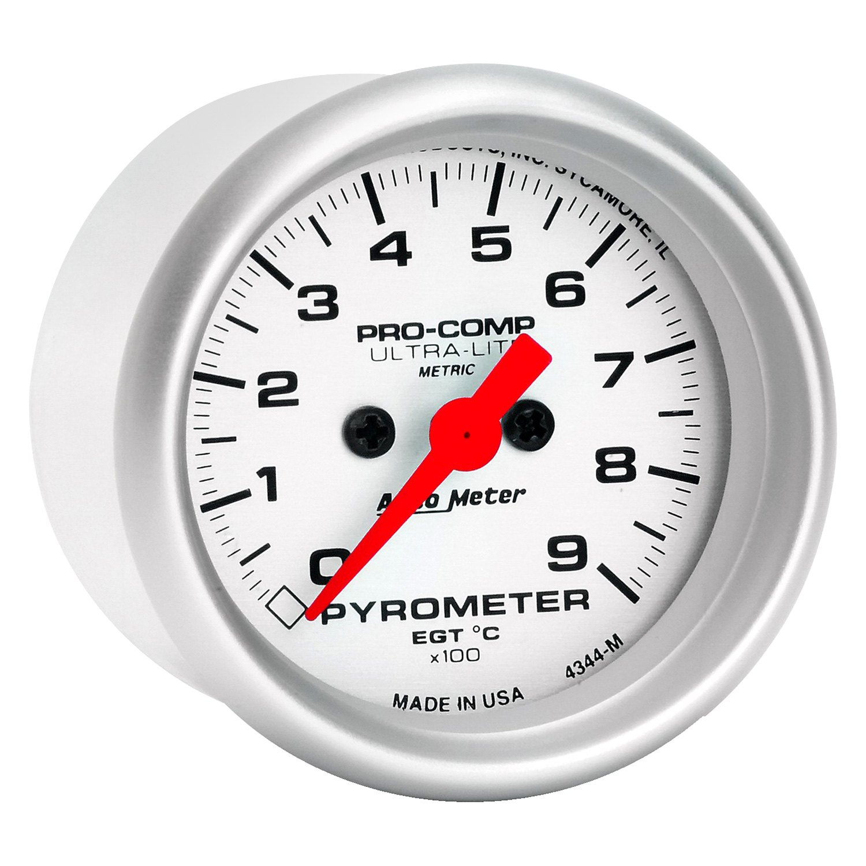 Auto Meter 4345 Ultra Lite Pro Comp Pyrometer EGT Gauge Kit 0-2000 F 2 1//16