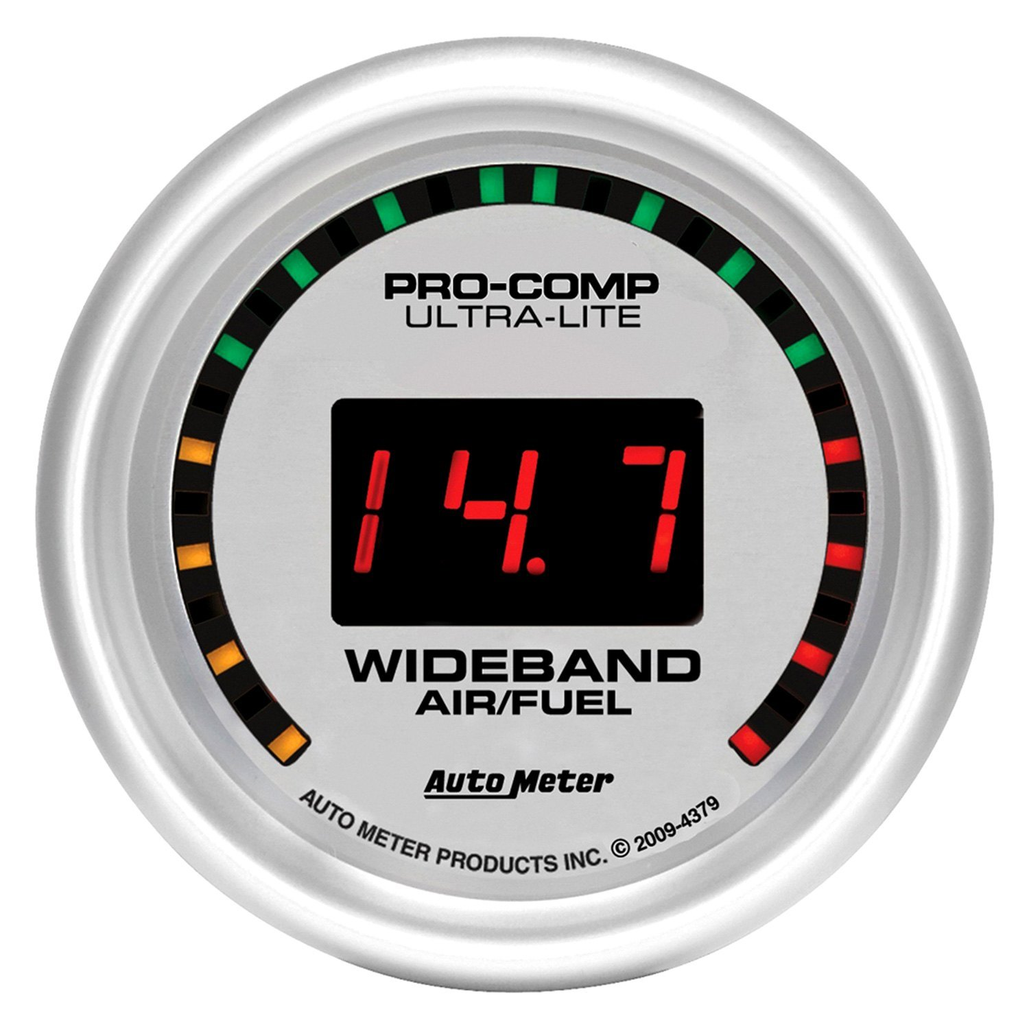 Wide Band Fuel Mixture Display Auto Meter Ultra Lite Digital Series Air Ratio Gauges 2 1 16 Narrowband Gauge Lean Rich