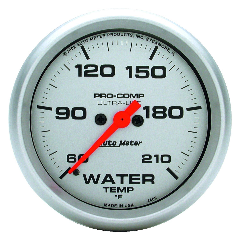 Auto Meter 4469 Ultra Lite Water Temperature In Dash Gauge