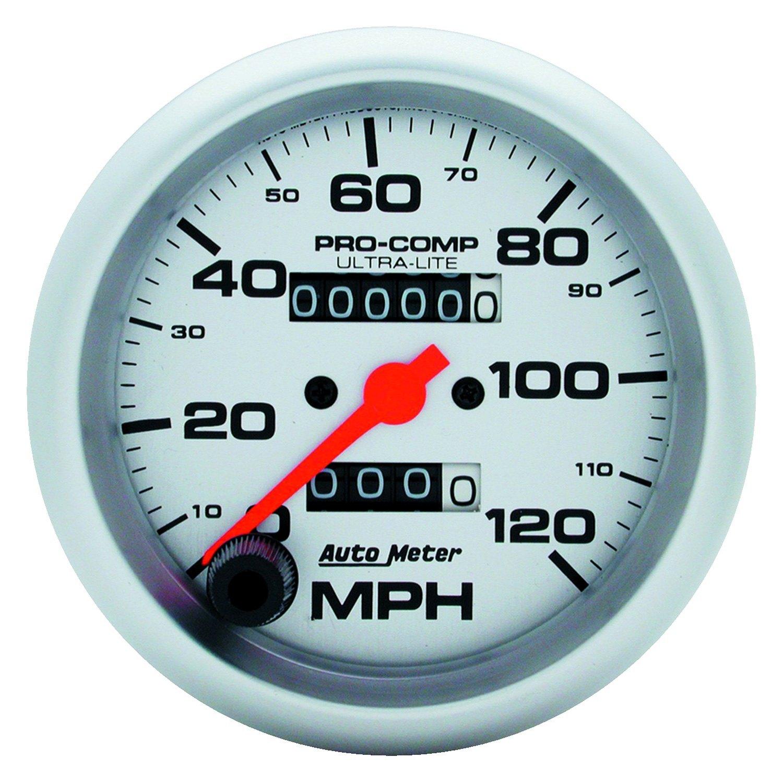 auto meter 4492 ultra lite series 3 3 8 speedometer gauge 0 120 mph. Black Bedroom Furniture Sets. Home Design Ideas
