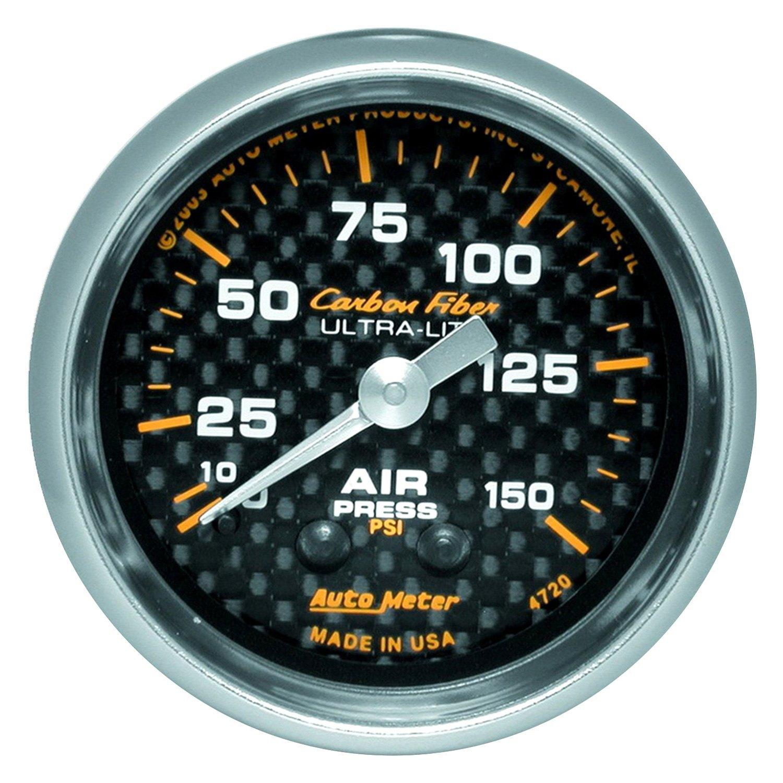 Air Pressure Gauge : Auto meter carbon fiber™ air pressure in dash gauge