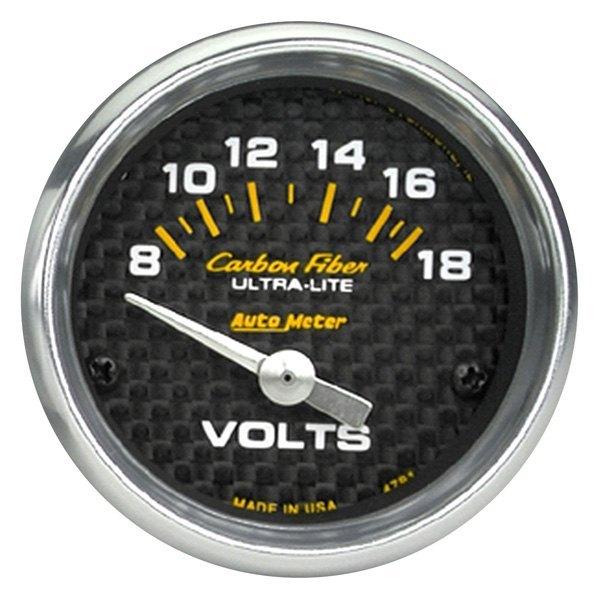 Voltmeters In Dash : Auto meter carbon fiber™ voltmeter in dash gauge