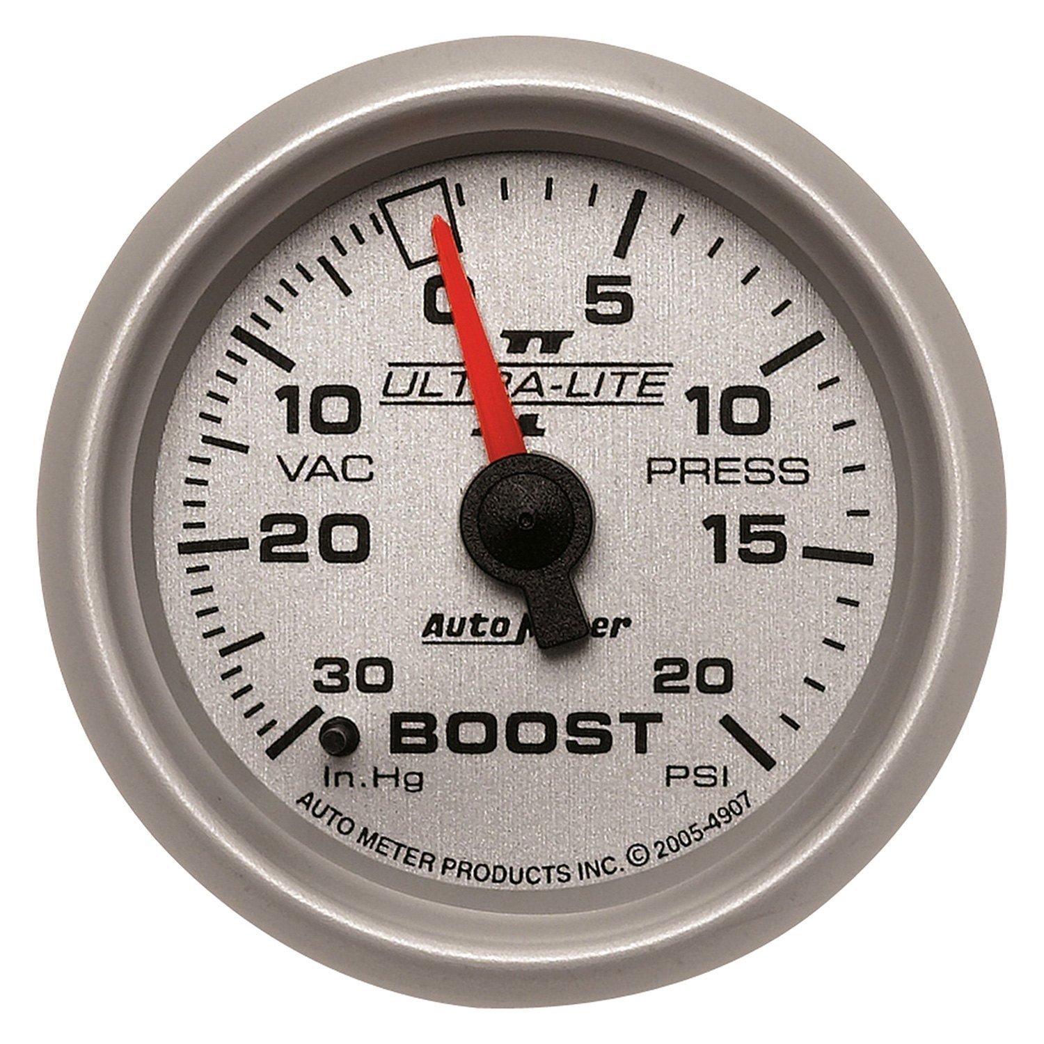 Auto Meter 7708 Ultra-Lite Pro II 2-5//8 30 in Hg//45 PSI Mechanical Vacuum//Boost Gauge
