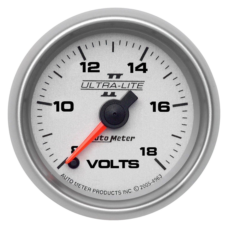 Voltmeters In Dash : Auto meter ultra lite ii series quot voltmeter