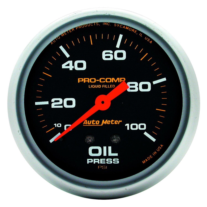 Auto meter pro comp series quot oil pressure