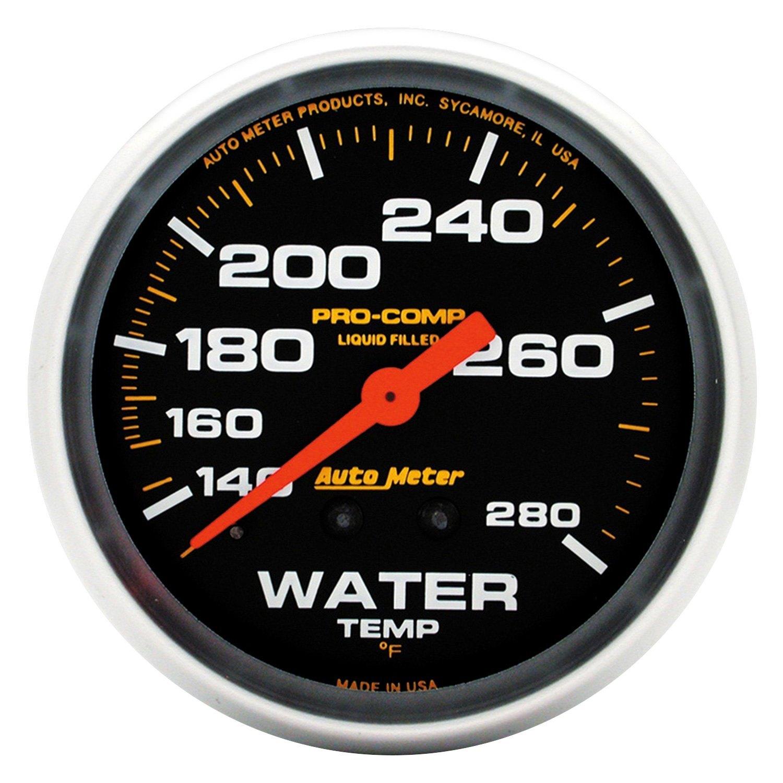 auto meter 5431 pro comp water temperature in dash gauge. Black Bedroom Furniture Sets. Home Design Ideas