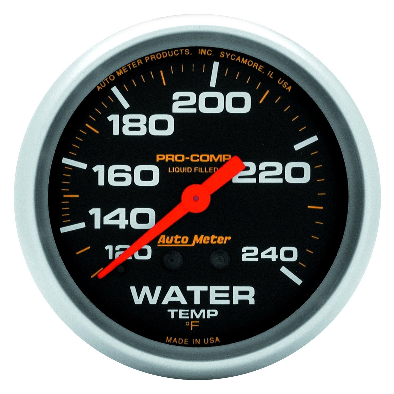 auto meter 5433 pro comp water temperature in dash gauge. Black Bedroom Furniture Sets. Home Design Ideas