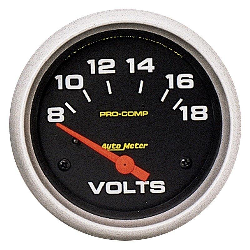 Voltmeters In Dash : Auto meter pro comp series quot voltmeter gauge