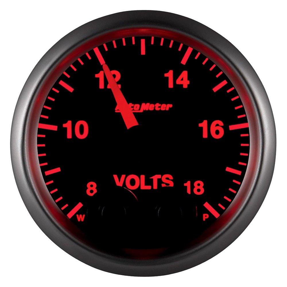 Voltmeters In Dash : Auto meter elite series™ voltmeter in dash gauge