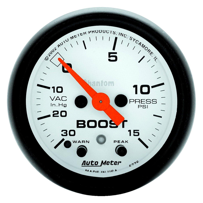 Auto Meter U00ae 5776  16 U0026quot  Boost  Vacuum
