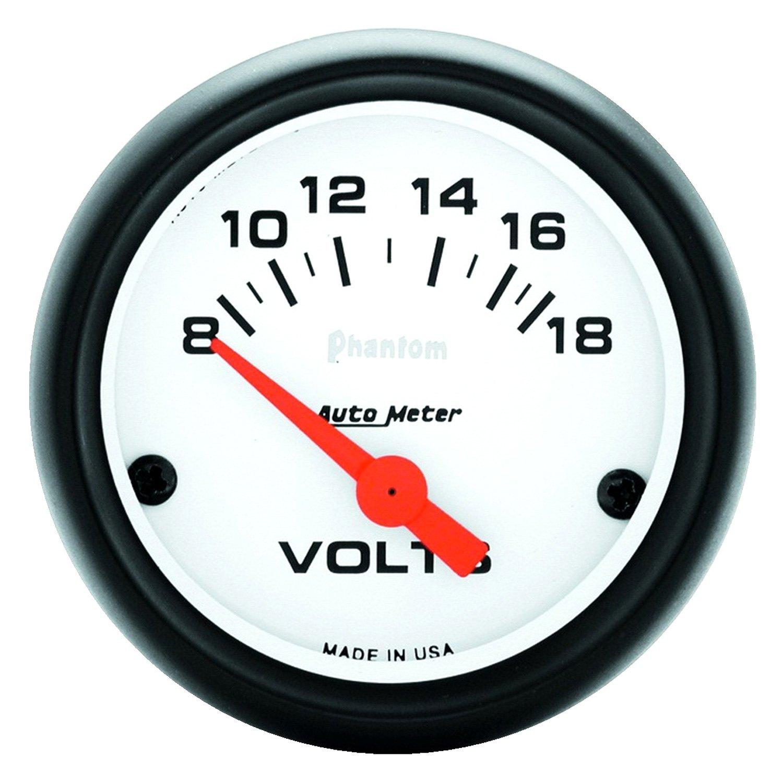 Voltmeters In Dash : Auto meter phantom™ voltmeter in dash gauge
