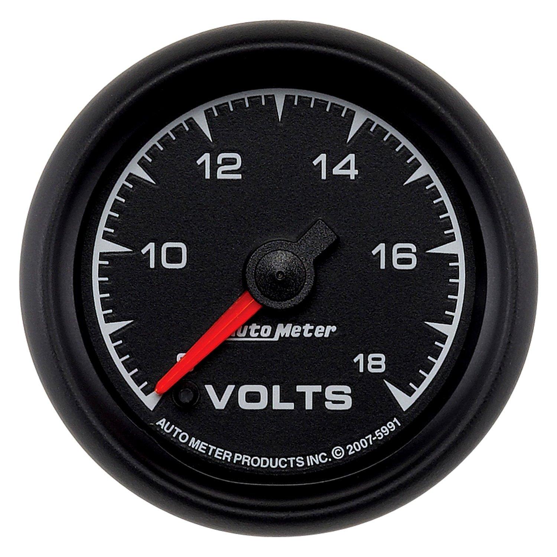 In Dash Digital Voltmeters : Auto meter es™ voltmeter in dash gauge