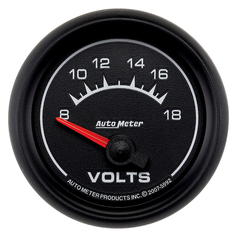 Auto Gage Gauges : Auto meter es series quot voltmeter gauge v