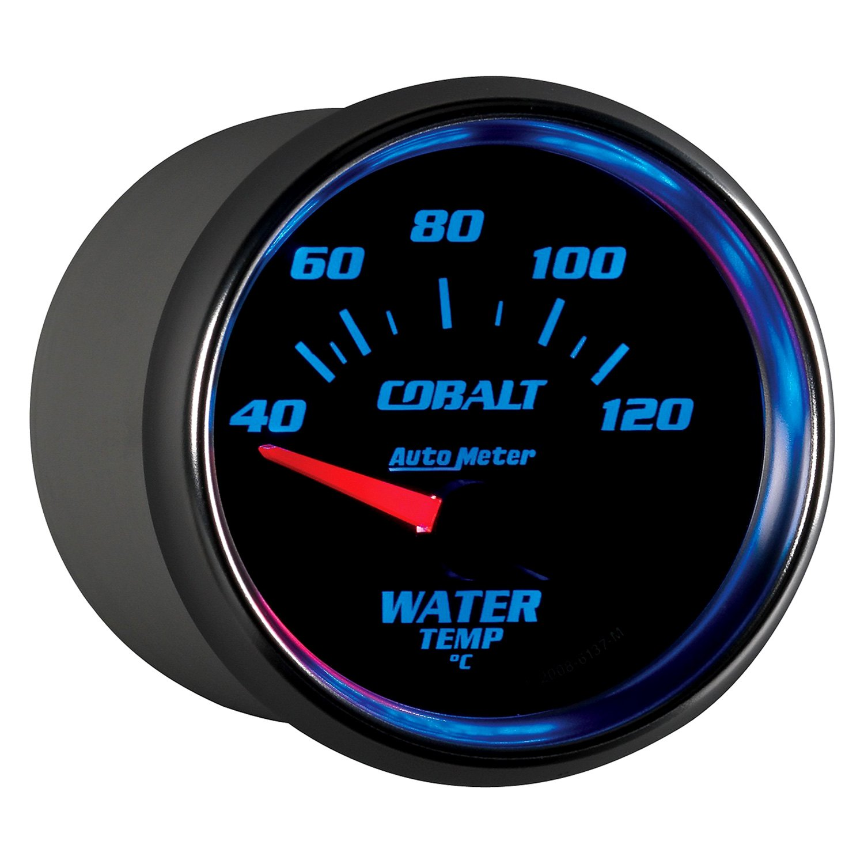 auto meter 6137 m cobalt water temperature in dash gauge. Black Bedroom Furniture Sets. Home Design Ideas