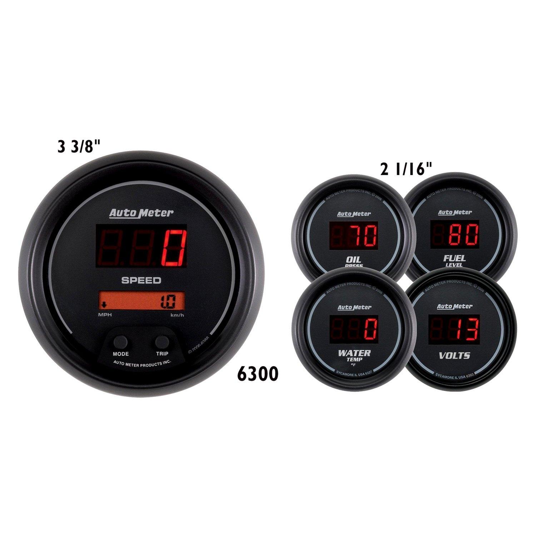 Car Gauges Set : Auto meter sport comp™ digital gauge set
