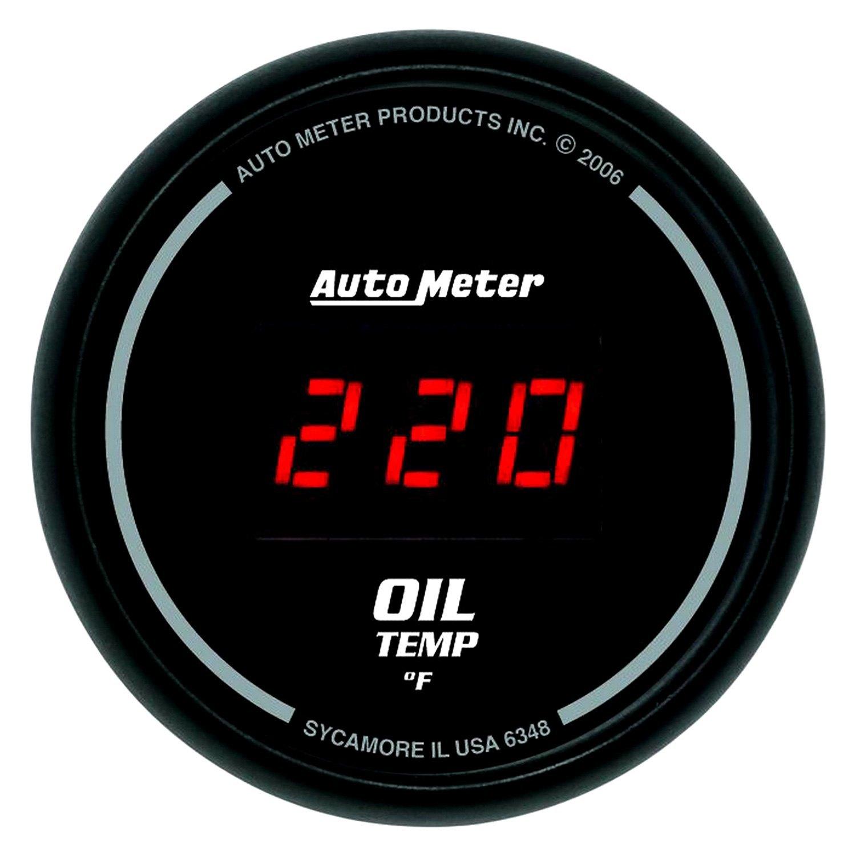 auto meter 6348 sport comp oil temperature in dash gauge. Black Bedroom Furniture Sets. Home Design Ideas