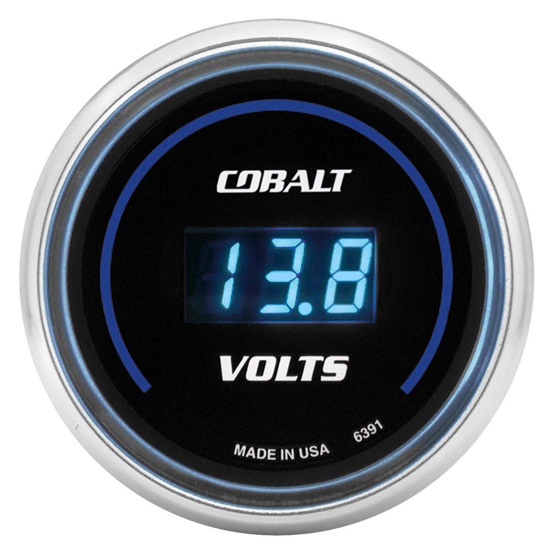Voltmeters In Dash : Auto meter cobalt™ voltmeter in dash gauge