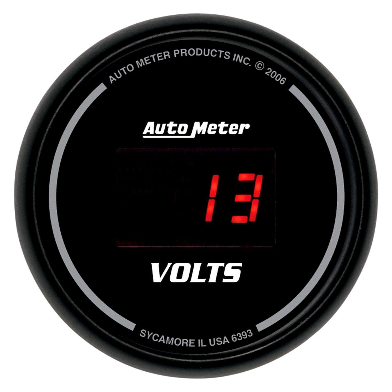 In Dash Digital Voltmeters : Auto meter sport comp digital™ voltmeter in dash gauge