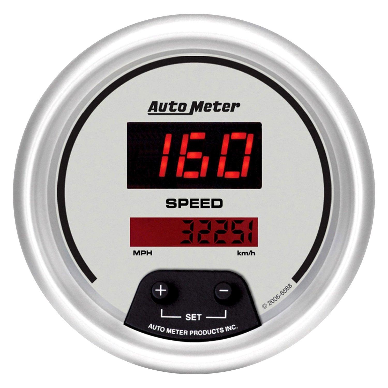 Digital Indicator Gauge : Auto meter ultra lite digital™ speedometer in dash