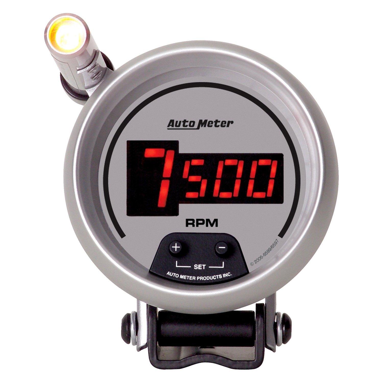 Electronic Auto Gauge Set : Auto meter ultra lite digital™ tachometer pedestal