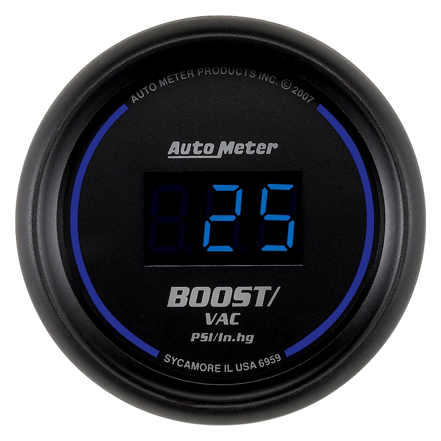 Electronic Gauges For Cars : Auto meter cobalt digital series quot boost