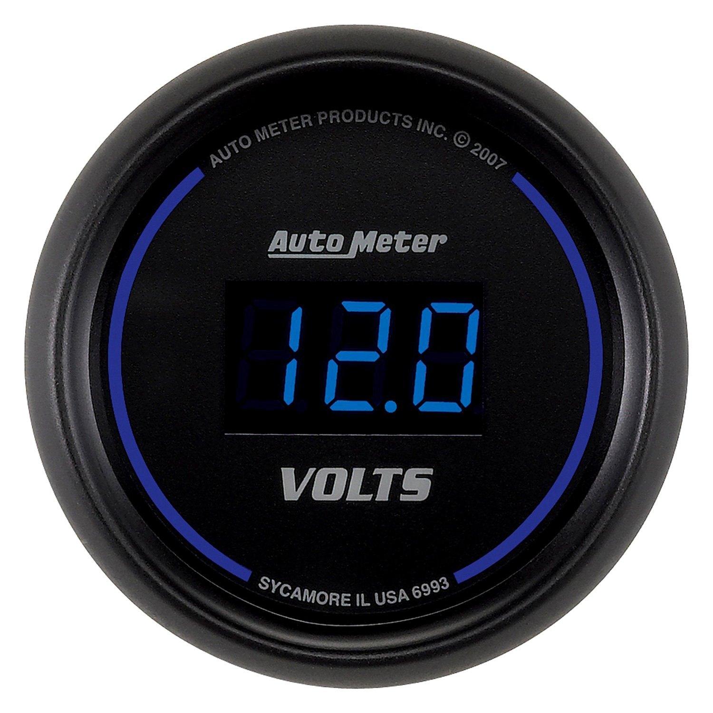In Dash Digital Voltmeters : Auto meter cobalt™ voltmeter in dash gauge