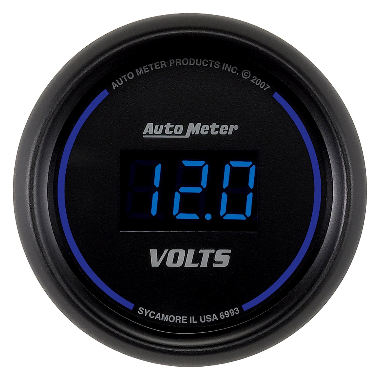 In Dash Digital Voltmeters : Auto meter cobalt digital series quot voltmeter