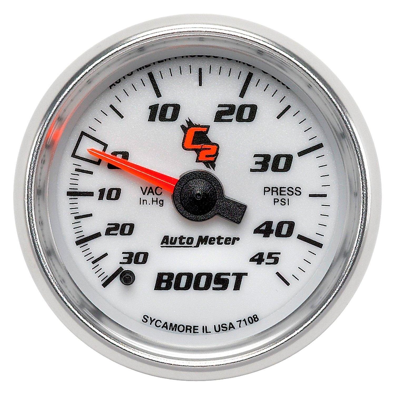 Auto Gage Gauges : Auto meter c series quot boost vacuum gauge