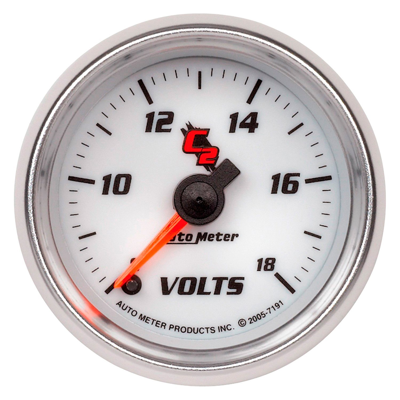 Voltmeters In Dash : Auto meter c series quot voltmeter gauge v