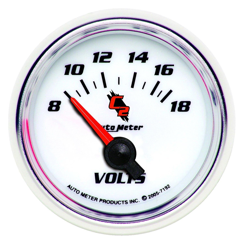 Voltmeters In Dash : Auto meter c ™ voltmeter in dash gauge
