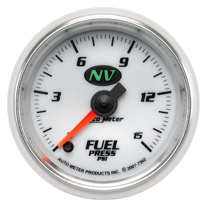 Auto meter nv series quot fuel pressure gauge