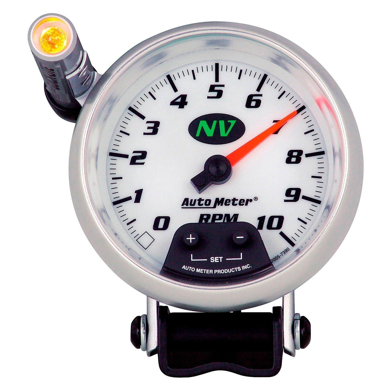 Universal Auto Gauges : Auto meter nv series quot pedestal tachometer