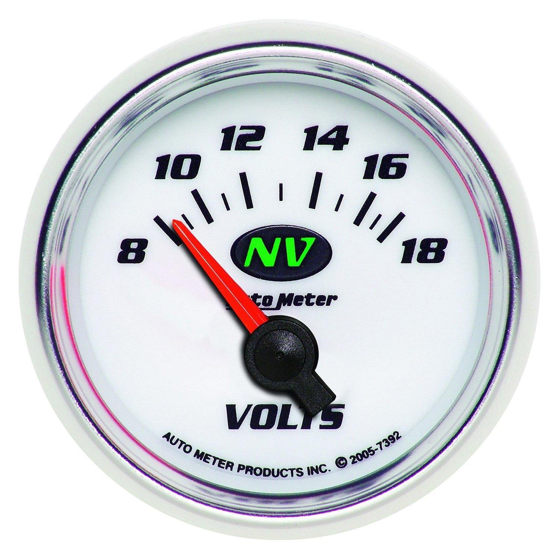 Voltmeters In Dash : Auto meter nv series quot voltmeter gauge v